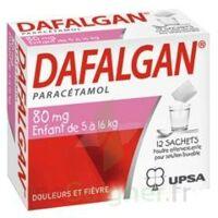 DAFALGAN 80 mg Poudre effervescente pour solution buvable B/12 à Paris