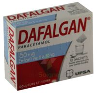DAFALGAN 150 mg Poudre effervescente pour solution buvable B/12 à Paris