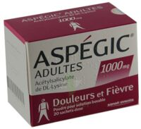 ASPEGIC ADULTES 1000 mg, poudre pour solution buvable en sachet-dose 15 à Paris