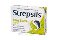 Strepsils Citron Sans Sucre, Pastille édulcorée à L'isomalt, Au Maltitol Et à La Saccharine Sodique à Paris