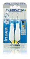 Inava Brossettes Tri Compact étroit  012 Noir 0,6mm/ Bleu 0,8mm/ Jaune 1mm à Paris