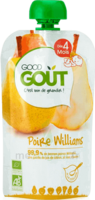 Good Goût Alimentation Infantile Poire Williams Gourde/120g à Paris