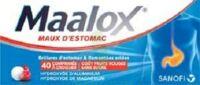 MAALOX MAUX D'ESTOMAC HYDROXYDE D'ALUMINIUM/HYDROXYDE DE MAGNESIUM 400 mg/400 mg SANS SUCRE FRUITS ROUGES, comprimé à croquer édulcoré à la saccharine sodique, au sorbitol et au maltitol à Paris