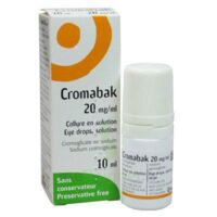 CROMABAK 20 mg/ml, collyre en solution à Paris