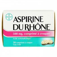 ASPIRINE DU RHONE 500 mg, comprimé à croquer Film thermos/20 à Paris