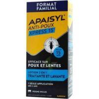 Apaisyl Anti-poux Xpress 15' Lotion Antipoux Et Lente 200ml+peigne à Paris